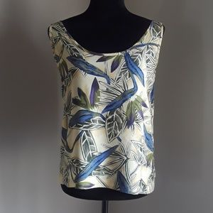 Tommy Bahama Tropical Print Tank Top Size Small